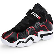 baratos Sapatos de Menina-Para Meninas Sapatos Sintéticos Primavera & Outono Conforto Tênis Basquete Cadarço / Colchete para Infantil / Bébé Arco-íris / Preto / Vermelho / Black / azul