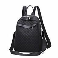 cheap School Bags-Women's Bags PU(Polyurethane) Backpack Zipper Solid Color Black