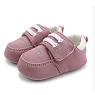 baratos Sapatos de Menino-Para Meninos / Para Meninas Sapatos Algodão Outono & inverno Conforto / Primeiros Passos Rasos para Bebê Azul / Rosa claro / Amêndoa