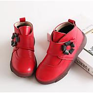 baratos Sapatos de Menina-Para Meninas Sapatos Pele Inverno Botas de Neve / Coturnos Botas Flor / Velcro para Infantil Preto / Vermelho / Rosa claro