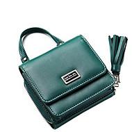 baratos Bolsas de Ombro-Mulheres Bolsas PU Bolsa de Ombro Ziper Rosa / Verde Escuro / Cinzento Escuro