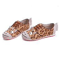 baratos Sapatos de Menina-Para Meninas Sapatos Camurça Primavera Conforto / Mocassim Tênis Elástico para Infantil Camel