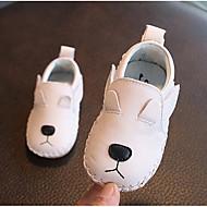 baratos Sapatos de Menino-Para Meninos / Para Meninas Sapatos Couro Primavera Conforto Rasos para Bébé Branco / Preto / Vermelho