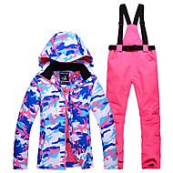 cheap -Snowy Owl Women's Ski Jacket with Pants Waterproof Thermal / Warm Windproof Ski / Snowboard Winter Sports Polyester Clothing Suit Ski Wear