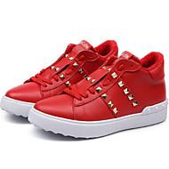 baratos Sapatos de Menino-Para Meninos / Para Meninas Sapatos Pele Napa Inverno Conforto Tênis Tachas para Infantil Branco / Preto / Vermelho