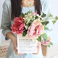 billige Kunstig Blomst-Kunstige blomster 1 Afdeling Klassisk Stilfuld / Brudebuketter Pæoner / Planter Bordblomst
