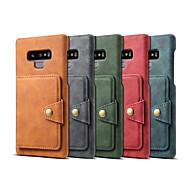 billiga Mobil cases & Skärmskydd-fodral Till Samsung Galaxy Note 9 Plånbok / Korthållare / Stötsäker Skal Enfärgad Hårt PU läder för Note 9