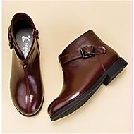 baratos Sapatos de Menina-Para Meninas Sapatos Pele Primavera Verão / Outono & inverno Botas da Moda Botas para Preto / Verde / Vinho