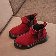 baratos Sapatos de Menino-Para Meninos / Para Meninas Sapatos Camurça Inverno Coturnos Botas para Infantil Cinzento / Vermelho / Rosa claro