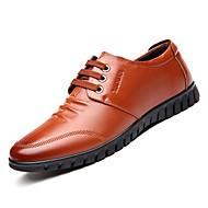 בגדי ריקוד גברים נעלי נוחות PU חורף נעלי אוקספורד שחור / חום / כחול