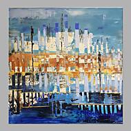 billiga Oljemålningar-Hang målad oljemålning HANDMÅLAD - Abstrakt Klassisk / Moderna Utan innerram