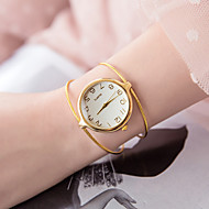 billige Quartz-Dame Armbåndsur Quartz Afslappet Ur Legering Bånd Analog Mode Minimalistisk Sølv / Guld - Sølv Gyldent