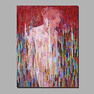 billiga Människomålningar-Hang målad oljemålning HANDMÅLAD - Abstrakt / Människor Samtida / Moderna Duk