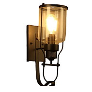 billige Vegglamper-Kreativ Retro Rød Vegglamper Garage / butikker / cafeer Metall Vegglampe 110-120V / 220-240V 40 W
