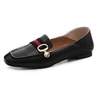 baratos Sapatos Femininos-Mulheres Pele Napa Primavera Mocassins e Slip-Ons Salto Baixo Dedo Fechado Preto / Café / Castanho Escuro