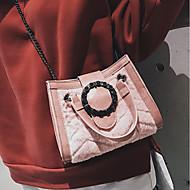 baratos Bolsas de Ombro-Mulheres Bolsas Pele Falsa / Veludo Bolsa de Ombro Ziper Côr Sólida Preto / Rosa / Khaki