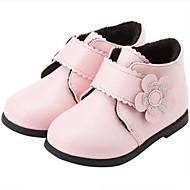 Jente Sko Syntetisk Vinter Trendy støvler Støvler Blomst til Baby Svart / Rød / Rosa / Ankelstøvler