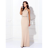 cheap -Sheath / Column Halter Neck Floor Length Spandex Beautiful Back Prom / Formal Evening Dress with Beading by TS Couture®