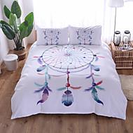 cheap Bedding Sets-Duvet Cover Sets Cartoon Polyster Reactive Print 3 PieceBedding Sets