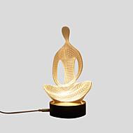 billige Lamper-1set 3D nattlys Varm hvit Usb Kreativ / Stress og angst relief / Verneutstyr 5 V