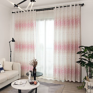 billige Gardiner ogdraperinger-gardiner gardiner Barnerom Blomstret Polyesterblanding Trykket