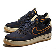 Erkek Ayakkabı Keten / Kot İlkbahar yaz Günlük Spor Ayakkabısı Yürüyüş Bootiler / Bilek Botları Dış mekan için Dikişli Dantel Koyu Mavi / Oxfords Baskı / Fashion Boots