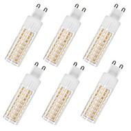 billige Kornpærer med LED-6pcs 7.5 W 937 lm G9 LED-kornpærer T 100 LED perler SMD 2835 Varm hvit / Kjølig hvit 85-265 V