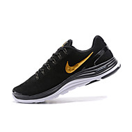 baratos Sapatos Masculinos-Homens Sapatos Confortáveis Couro / Camurça Primavera & Outono Tênis Corrida / Aventura Absorção de choque Preto