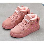 baratos Sapatos de Menino-Para Meninos / Para Meninas Sapatos Camurça Inverno Curta / Ankle Botas Velcro para Infantil Preto / Roxo / Fúcsia / Botas Curtas / Ankle