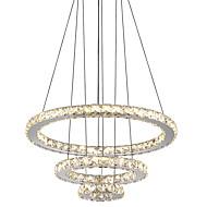 baratos Acessórois Para Iluminação-Circular Lustres Luz Ambiente Galvanizar Metal Cristal, LED 110-120V / 220-240V Branco Frio / Amarelo Fonte de luz LED incluída / Led Integrado