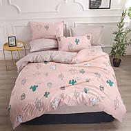 billige Blomstrete dynetrekk-Sengesett Blomstret Polyester Mønsterpreget 4 delerBedding Sets
