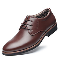 tanie Obuwie męskie-Męskie Komfortowe buty Mikrowłókno Zima Casual Oksfordki Zatrzymujący ciepło Czarny / Brązowy / Impreza / bankiet
