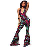 Hippie Disco Retro / vintage 60-talet Hippie 70-talet Disko Kostym Dam Outfits Regnbåge Vintage Cosplay Ärmlös Djup V-hals