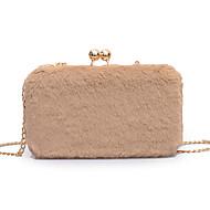 baratos Clutches & Bolsas de Noite-Mulheres Bolsas PU Bolsa de Festa Botões Côr Sólida Vermelho / Rosa / Khaki