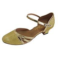 billige Moderne sko-Dame Moderne sko PU Høye hæler Gummi Tykk hæl Kan spesialtilpasses Dansesko Sølv / Rød / Marineblå