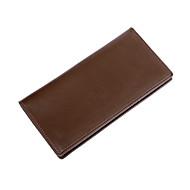 baratos Clutches & Bolsas de Noite-Homens Bolsas PU Bolsa de Mão Ziper Côr Sólida Preto / Marron / Khaki