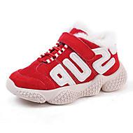baratos Sapatos de Menino-Para Meninos / Para Meninas Sapatos Couro Inverno Conforto Tênis Velcro para Infantil Bege / Café / Vermelho