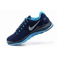 baratos Sapatos Masculinos-Homens Solas Claras Couro / Camurça Primavera & Outono Tênis Corrida / Aventura Absorção de choque Azul Real