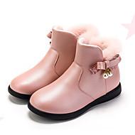 baratos Sapatos de Menina-Para Meninas Sapatos Pele / Couro Ecológico Inverno Botas da Moda Botas Laço / Pérolas Sintéticas / Ziper para Infantil Preto / Vermelho / Rosa claro / Botas Curtas / Ankle