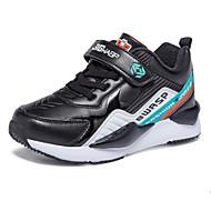 baratos Sapatos de Menino-Para Meninos Sapatos Sintéticos Inverno Conforto Tênis Velcro para Infantil Preto / Vermelho / Preto / Vermelho / Estampa Colorida