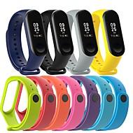 Pulseiras de Relógio para Mi Band 3 Xiaomi Pulseira Esportiva Silicone Tira de Pulso