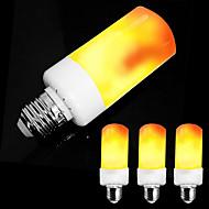 zdm 4pcs e26 e27 / e14 5w led effet de flamme ampoule-4 modes avec effet à l'envers ac85-265v