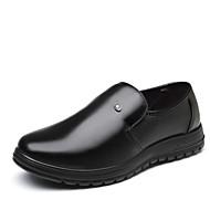 baratos Sapatos Masculinos-Homens Sapatos formais Couro Sintético Outono & inverno Negócio / Casual Oxfords Manter Quente Preto / Casamento / Festas & Noite