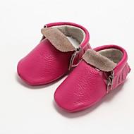 baratos Sapatos de Menina-Para Meninos / Para Meninas Sapatos Pele Primavera & Outono Primeiros Passos Botas para Bébé Rosa claro / Azul Claro / Verde Claro / Botas Curtas / Ankle