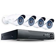 baratos Kits NVR-jooan® 2mp 4ch poe sistema de segurança de alta resolução nvr com 4pcs 1080p outdoor poe ip camera