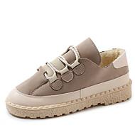 baratos Sapatos Femininos-Mulheres Camurça Inverno Casual Tênis Salto Baixo Preto / Cinzento / Vermelho