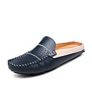 baratos Sapatos Masculinos-Homens Mocassim Couro Ecológico Inverno Tamancos e Mules Branco / Preto / Azul