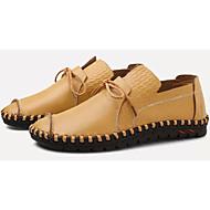 tanie Obuwie męskie-Męskie Komfortowe buty Skóra bydlęca / PU Zima Casual Oksfordki Antypoślizgowe Czarny / Żółty / Brązowy