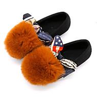 baratos Sapatos de Menina-Para Meninas Sapatos Camurça Inverno Mocassim / Forro de peles Mocassins e Slip-Ons Laço para Bébé Cinzento / Marron / Verde