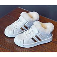 baratos Sapatos de Menina-Para Meninos / Para Meninas Sapatos Microfibra Inverno Conforto Tênis Velcro para Infantil Dourado / Preto / Bege / Listrado